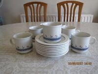 Staffordshire Tableware. Cups & Saucers