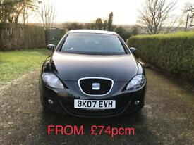 Seat Leon black 1.9 tdi stylance full service history, just belted in excellent condition