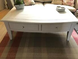 French heavy shabby chic grey coffee table