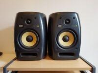 2 X KRK VXT6 ACTIVE STUDIO MONITORS - GREAT SOUND