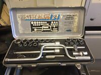 "Draper Silverdrive 24 1/2"" square drive combined socket set"