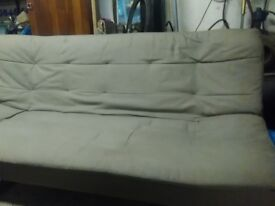 Biege futon double bed size good condition