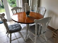 Shabby chic annie sloan dining table set