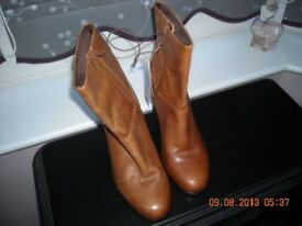 Ladies tan leather boots