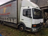 mercedes atego 818 7.5 ton breaking engine 6 speed all parts available