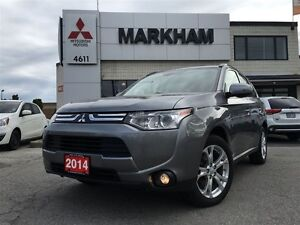 2014 Mitsubishi Outlander GT- S-AWC, LEATHER ROOF!!