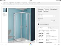 Simpsons Supreme Luxury Curved Quadrant 900 X 900mm shower enclosure (5305)