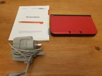Nintendo 3ds XL in very good condition -red