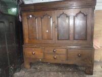 Early 19th century Welsh Oak Low Press Cupboard