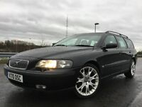 2003 VOLVO V70 2.4 D5 TURBO TDI WITH BLACK LEATHER+AUTOMATIC+BBS ALLOYS