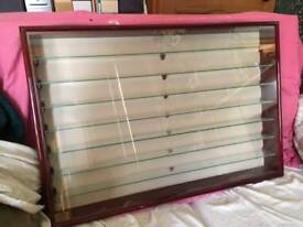 Display cases for collectibles, sold together or separately