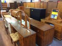 Quality used solid wood / pine dressing table