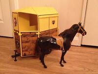 Vintage Sindy Horse and Horsebox