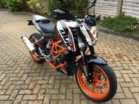 KTM 390 Duke, as new totally mint still under warranty