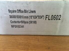 *Brand New* Square Office Bin Liners (box of 500)