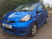 TOYOTA AYGO 1.0 VVT-I 2011 64K **LOW MILEAGE** £20 YEARLY ROADTAX** FULL YEAR MOT** BLUETOOTH / A/C