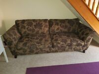 Dfs Sofa 3 seater with matching arm chair