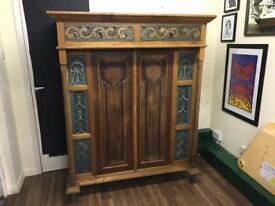 Antique hand carved cabinet / cupboard. Vintage