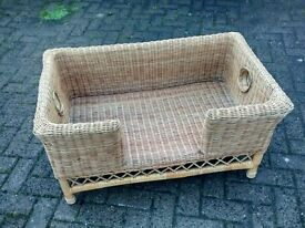 Mint condition wicker dog bed