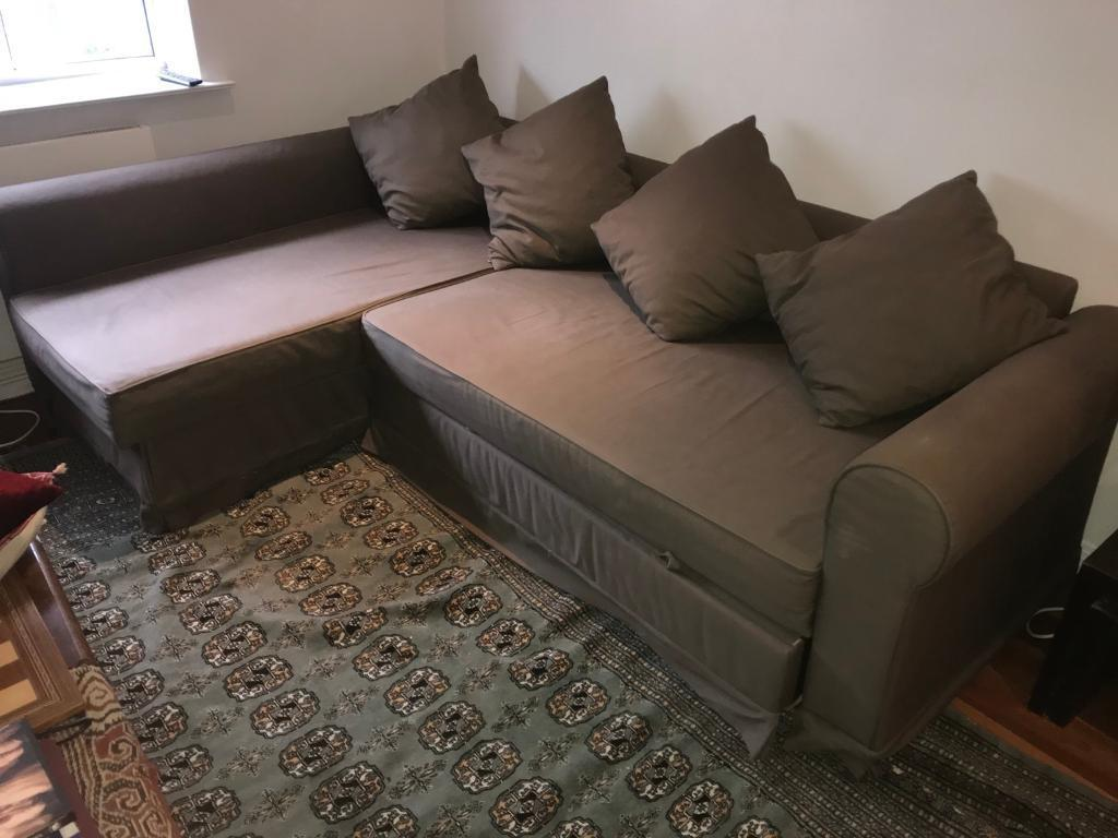 Awesome Free Delivery Ikea Moheda Brown L Shaped Sofa Bed Good Condition In Paddington London Gumtree Inzonedesignstudio Interior Chair Design Inzonedesignstudiocom
