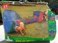 Pop up play tents and tunnel