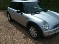 2001/51 MINI ONE 1.6 PETROL, SILVER, ONLY 73.000 MILES