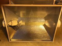 """Cheshunt Hydroponics Store - used XXXL 6"""" air cooled shades extra large"""