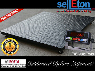 Selleton Floor Scales Pallet Port Digital Indicator 5000 Lbs X 1 Lb 5 X 5