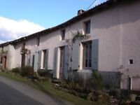 Charming old Charentaise house with large barns and gardens. (French Property). Excellent condition.
