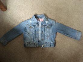 Women's New look cropped denim jacket - size 10