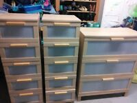 3 chests of drawers