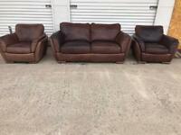 Natuzzi Italian leather sofa set. Free delivery local