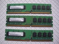 3 x HP 512MB modules of PC2-5300U-555