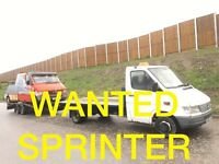 Mercedes Sprinter 208D - 308D - 310D - 312D -VANS WANTED