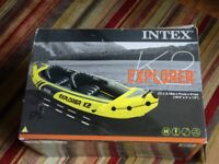 Intex Explorer K2 Kayak - Yellow/Black, brand new in box and never used