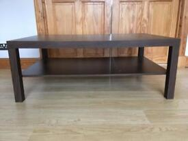 Ikea lack large coffee table plus side table - dark brown