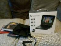 Goodmans 7 inch portable dvd player boxed with remote