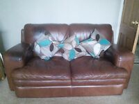 Two two seater settees and one chair