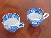 Enoch Wedgewood Coffee Cups. Woodland Pattern.