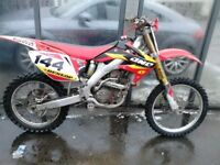 HONDA CRF 250 2008 TWIN PIPE FOR SALE £1250ono