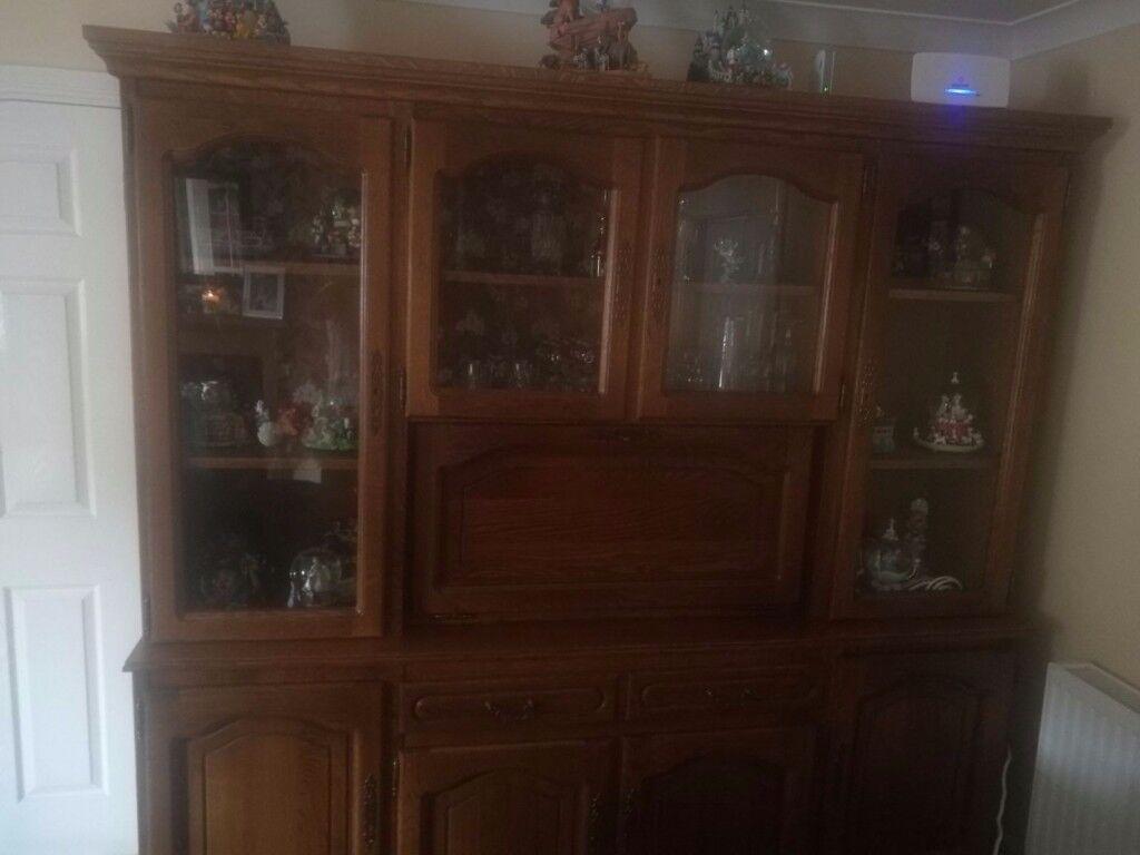 Solid Oak Display Unit