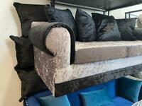 3 seater sofa BRANDNEW crushed velvet- FREE DELIVERY