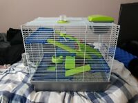 Hamster Cage W/ food + bedding