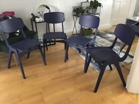 Old school chairs painted