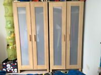 Two Beech IKEA Wardrobes