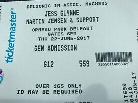 Jess Glynne Ticket Tonight at Belsonic