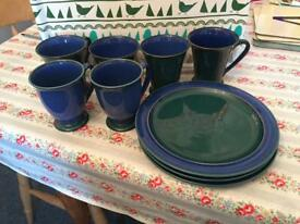 Denby Metz cups & side plates