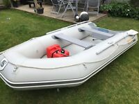 EXCEL MARINE SD330 INFLATABLE 5HP MERCURY 2STROKE Inflatable boat and outboard