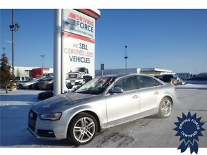 2015 Audi A4 Technik Plus Quattro, Leather Seats, HID Headlights