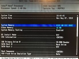 DELL PowerEdge 860 1U - Xeon 2.4GHz - 8GB RAM, 250GB SATA